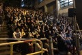 A large crowd gathered to watch the film in Wood Road, Wan Chai. Photo: Facebook/Wan Chai Commons