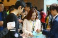 Potential home buyers gather during the sales of Sun Hung Kai's Ocean Wings at International Commerce Centre in West Kowloon. Photo: Edmond So