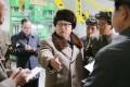 North Korean leader Kim Jong-un (centre). Photo: AFP