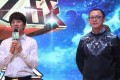 Huang Zhiyuan (right), a finalist from Hunan TV's 'I'm a Singer' reality show, was presented by Alibaba Cloud at a news conference yesterday in Changsha, Hunan during which the company announced that its Ai supercomputer will try to predict the winner of Friday night's show. Huang is expected to feature among seven contestants. Photo: Handout