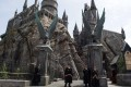 Exterior of Hogwarts, part of the Wizarding World of Harry Potter attraction at Universal Studios Hollywood. Photo: AFP