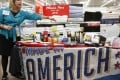 """A selection of merchandise made in the US for sale at a Walmart store in Arkansas. The company says it is """"leading an American renewal in manufacturing"""" and """"bringing jobs back to the US"""" with a pledge to buy an additional US$50 billion in US-made goods over the next 10 years. Photo: Reuters"""