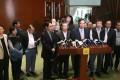 Pro-establishment lawmakers condemn the adjournment. Photo: SCMP Pictures