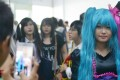 A cosplayer poses for a photograph in Yangon. Photo: AFP
