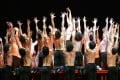 Dancers of the Bejart Ballet Lausanne performing the Bolero by Maurice Ravel in Lille. Photo: AFP