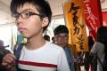 Joshua Wong outside Eastern Court this week. Photo: Felix Wong