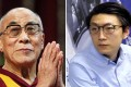 The Dalai Lama spoke at a conference in India attended by Edward Leung of Hong Kong Indigenous. Photos: Reuters, David Wong