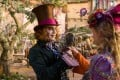 Johnny Depp and Mia Wasikowska in Alice Through the Looking Glass.
