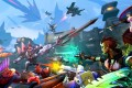 Battleborn weaves together first-person combat, RPG-like character upgrades, and the kind of wide cast of playable characters and overall pacing of a multiplayer online battle arena.