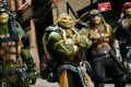 Left to right: Donatello, Michelangelo, Leonardo and Raphael in Teenage Mutant Ninja Turtles: Out of the Shadows (category: IIA). The film stars Megan Fox, Will Arnett, and Tyler Perry, and is directed by Dave Green