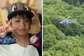 Yamato Tanooka, aged seven, went missing in the Hokkaido wilderness after being ordered out of his parents' car for being naughty. At right, a search and rescue helicopter scours the area for the boy on Monday. Photos: Handout and Kyodo