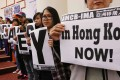 An Asian Migrants' Coordinating Body protest against slavery in Hong Kong. Photo: Felix Wong
