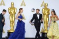 Best supporting actor Mark Rylance, Bridge of Spies, best actress Brie Larson, Room, best actor Leonardo DiCaprio, The Revenant and best supporting actress Alicia Vikander, The Danish Girl, at the 88th Academy Awards in February. Photo: Reuters