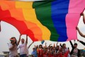 A file picture of a gay rights rally in China. Photo: SCMP Pictures