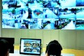 Staff monitoring the cameras. Photo: Thepaper.cn