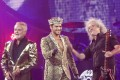 Roger Taylor, left, Adam Lambert and Brian May, who will be coming to Hong Kong in September.
