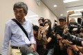 Lam Wing-kee, at the press conference on Tuesday at Legco, where he detailed his disappearance. Photo: Felix Wong