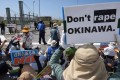 Crimes by US military personnel have long sparked protests in Okinawa. Photo: AFP
