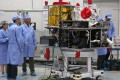 Checks on the quantum satellite have finished and it will soon be sent to the launch centre in Inner Mongolia. Photo: Xinhua
