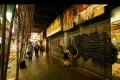 American graffiti artist Utah spray-paints at an unknown location in Hong Kong.