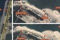 Airbus Defence and Space imagery shows the removal of HQ-9 strategic missile components from Woody Island. Photo: SCMP Pictures