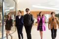 (From left) Karena Ng, Wallace Chung, Lee Min-ho, Tiffany Tang and Louis Fan in Bounty Hunters (category: IIA; Cantonese, English, Korean, Thai), directed by Shin Terra.
