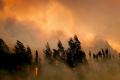 A wildfire in Alaska