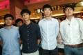 (Left to right) Li Tung-sing, Ray Wong Toi-yeung, Baggio Leung Chung-hang, and Edward Leung Tin-kei meeting the media at Kowloon Bay on Tuesday. Photo: David Wong
