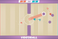The concept of Videoball is very basic – a ball spins around a rudimentary field and teams of arrows have to shoot it into opposing goals.