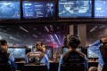 The Fuse gaming team gears up during the Major League Gaming Championships in California. More than 1,000 e-sports players took part in the event. Photo: AP