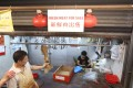 A pork stall in Sheung Wan Market after government officials removed pork from the area. Photo: Nora Tam