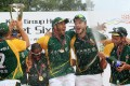 South Africa celebrate winning the cup final of the Hong Kong Sixes in October 2012. Photo: Jonathan Wong
