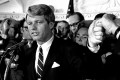 Robert F. Kennedy in Los Angeles on June 5, 1968, following his victory in the previous day's California primary election. Moments later he was shot and fatally wounded. Photo: AP