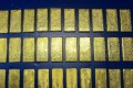 The gold bars worth HK$11 million seized at the Shenzhen Bay immigration control point. Photo: SCMP Pictures