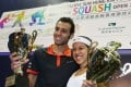 Egypt's world number one Mohamed Elshorbagy and Malaysian great Nicol David have been fighting to get their sport in the Olympics. Photo: Nora Tam