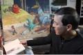Shaun Tan in his studio.