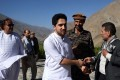 Ahmad Massoud, the son of Ahmad Shah Massoud, arrives at the tomb of his late father at Saricha of Bazarak District in Panjshir Province. HPhoto: AFP