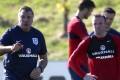 England manager Sam Allardyce (left) and Wayne Rooney. Photo: AP