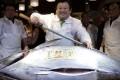 Tokyo's Tsukiji fish market is renowned for tuna auctions. Photo: EPA