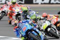 Spain's Maverick Vinales leads from the start of the British MotoGP at Silverstone. Photo: AP