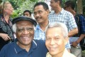 Sombath Somphone with Desmond Tutu in 2006. The US-educated Sombath, who headed a non-governmental organisation campaigning for sustainable development, went missing in 2012 while driving home in the capital Vientiane. Photo: sombath.org