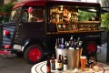 The beer truck at The Garage Bar, Cordis hotel, Langham Place, Mong Kok. There's a food truck too.