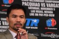 Manny Pacquiao has spoken about the prospect of a money-spinning rematch with retired American Floyd Mayweather Jnr. Photo: AFP