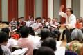 Music director Chan Wing-wah at a Hong Kong Oratorio Society rehearsal at the Cultural Centre. Photo: K. Y. Cheng