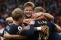 Tottenham's Harry Kane celebrates scoring their fourth goal. Photo: Reuters