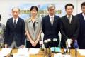 Professor Linda Lam (left of centre) said waiting times should decrease. Photo: Elizabeth Cheung