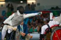 Yu Chui-yee competes in the individual foil event at the Rio Paralympics. Photos: HK Paralympic Committee