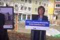 Premier Christy Clark speaks in Burnaby about affordable housing. Photo: Facebook