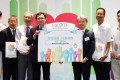 Hong Kong Organ Transplant Foundation president Dr Kelvin Ho Kai-leung (third from right) unveiling the initiative. Photo: Edmond So
