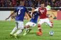 South China striker Nikola Komazec takes a shot during Tuesday night's AFC Cup quarter-final, second leg match in Johor Buru. Photos: Nizam Rahman